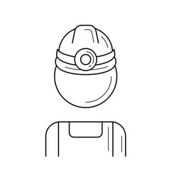 mine worker line icon vector image
