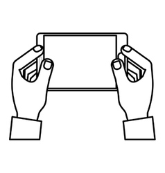 Mobile tablet technology vector