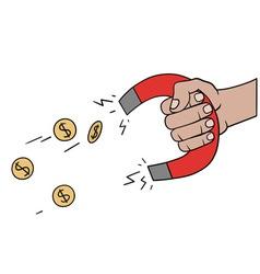 Money magnet vector