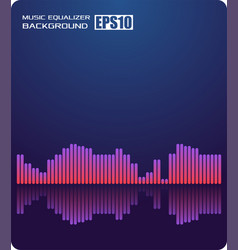 music abstract background blueequalizer vector image
