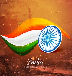 Old paper indian flag vector