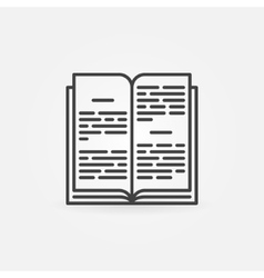 Open book linear icon vector image