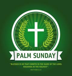 Palm sunday logo vector