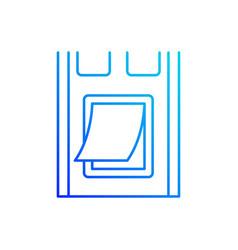 pet doors linear icon vector image
