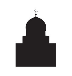 picture of a silhouette of a mosque with a vector image