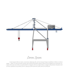 Port crane cargo lift for loading containers vector