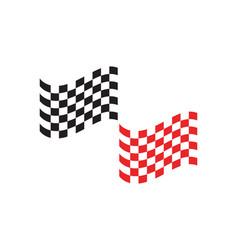 race flag icon simple design logo vector image