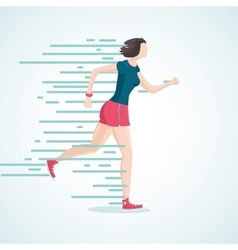 Running woman The woman on the run Isolated vector