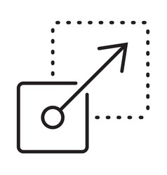 Scalability or scalable system line art icon vector