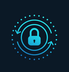 secure access icon vector image