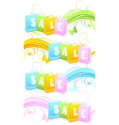 Set of banners with shopping bags vector image vector image