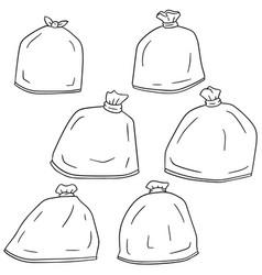 set of trash bag vector image
