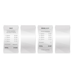 shop receipt realistic restaurant bill and blank vector image