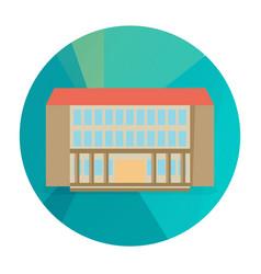 single city building icon vector image vector image