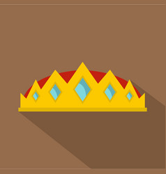 small crown icon flat style vector image