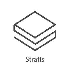 stratis icon for internet money crypto currency vector image