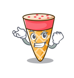 Successful ice cream tone character cartoon vector