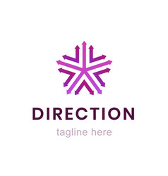 template direction logo creative business sign vector image