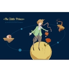 The little prince of the planet in space vector