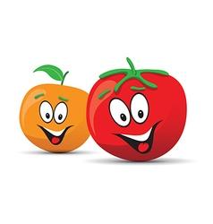 Tomato orange vector