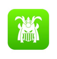 tribal helmet icon digital green vector image