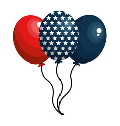 United states balloons design vector