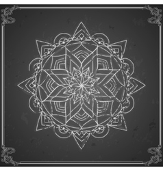 Vintage chalkboard indian ornament calligraphic vector