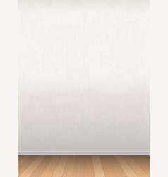 wall and wooden floor vector image