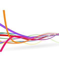 Wire background - stream line vector