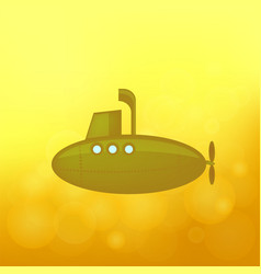 Yellow submarine sails vector