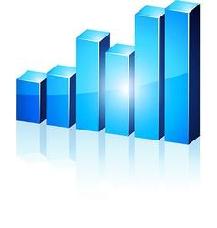 3d blue diagram vector image vector image
