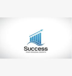 finance success logo graphic design vector image