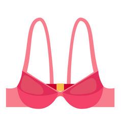 pink bra icon cartoon style vector image