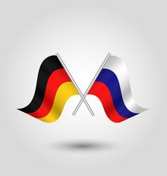two crossed german and russian flags vector image vector image
