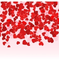 Valentine day red hearts background Holiday Red vector image vector image