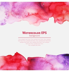 Watercolor pink abstract frame vector image
