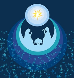 abstract Christmas card - birth of Jesus in vector image