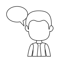 businessman with speech bubble avatar character vector image