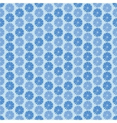 Blue flowers ornament seamless pattern vector image vector image