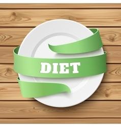 Diet conceptual background vector image