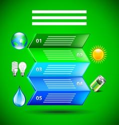 Environment inforgaphics folded paper vector image