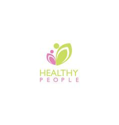 healthy people beauty logo vector image