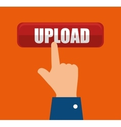 icon upload process design isolated vector image