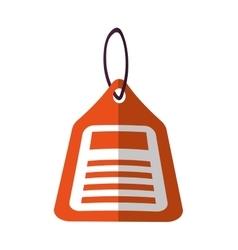 orange price tag sale blank color shadow vector image
