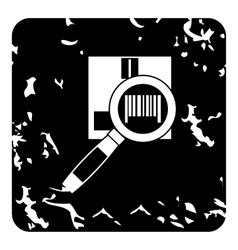 Barcode scanner icon grunge style vector image