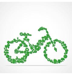 green eco iconic bicycle vector image
