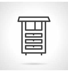 Kitchen furniture simple line icon vector image