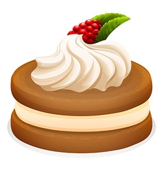 Sandwich cookie and cream vector