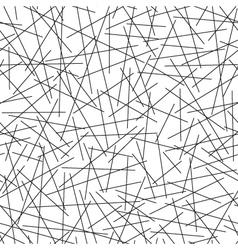 Seamless pattern of random lines vector image