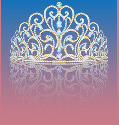 a female jewelry crown a tiara with precious vector image